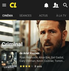 Ciné-Loisirs sort sa nouvelle application pour Android
