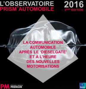 3ème édition de l'observatoire Prism'Automobile