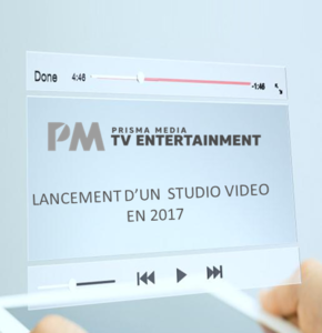 Un studio video pour le pôle TV de Prisma Media en 2017