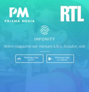 Prisma Media et RTL unissent leurs puissances éditoriales autour d'Infonity