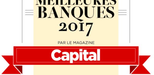 Le label CAPITAL des meilleures banques 2017