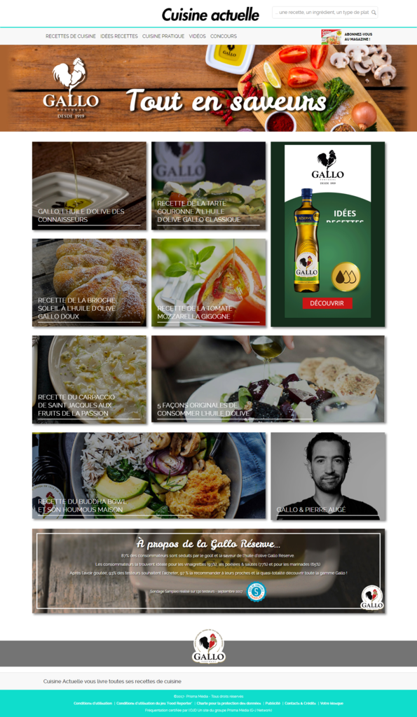 L huile d olive gallo starifi e avec cuisine actuelle et for Arlene s cuisine