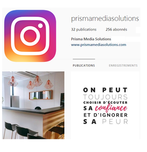 Instagram : rendez-vous sur la page officielle de Prisma Media Solutions !