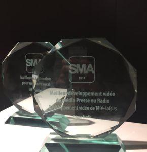 Les innovations de Télé-Loisirs récompensées au SMA Awards