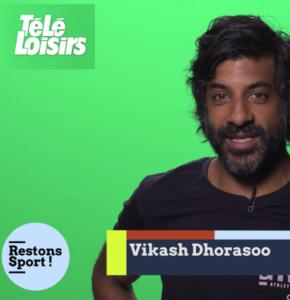 Vikash Dhorasoo, consultant foot de Télé-Loisirs