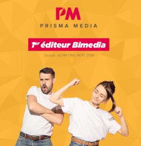 Prisma Media, 1er éditeur Bimedia Français en audience